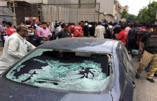 Political figures condemn attack on Pakistan Stock Exchange in Karachi