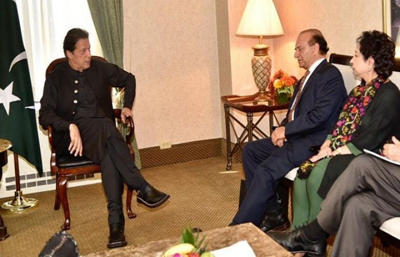 Prime Minister Imran Khan meets with Founder of Kashmir Study Group Farooq Kathwari,