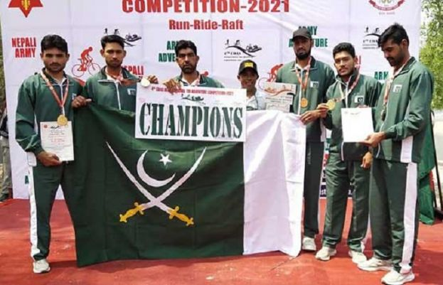 Pak Army team wins gold medal at 4th COAS International Tri-Adventure Competition