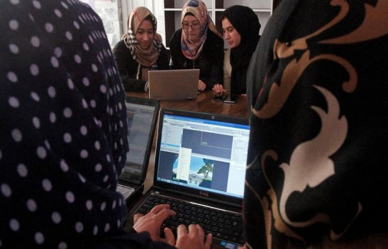 Afghan Girls learning online in Taliban Birthplace