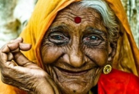 Young-Hearted 120 Years Old Woman In India