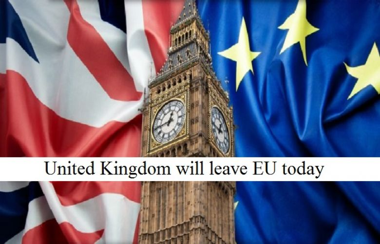 UK will leave European Union today