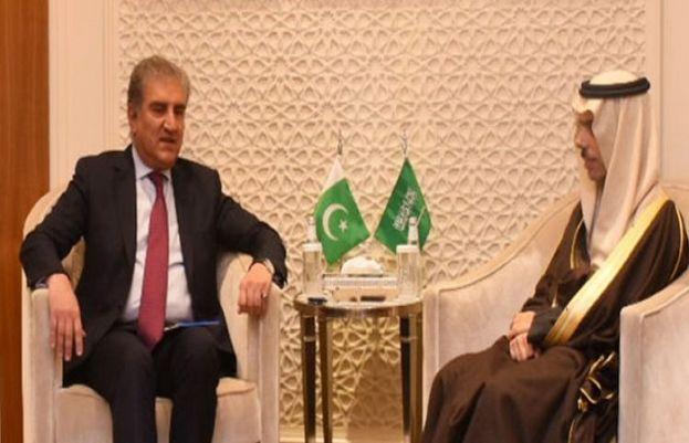 FM Qureshi meets Saudi counterpart