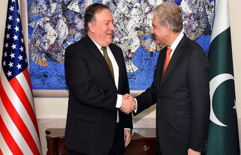 Foreign Minister Shah Mahmood Qureshi and US Secretary of State Mike Pompeo
