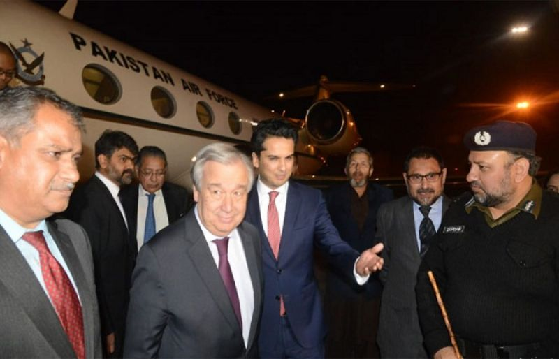 Image result for Antonio Guterres reaches Lahore along with delegation