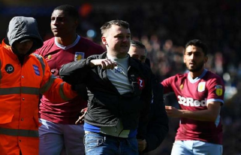 Birmingham fan who punched Aston Villa's Jack Grealish after invading the pitch was jailed for 14 weeks