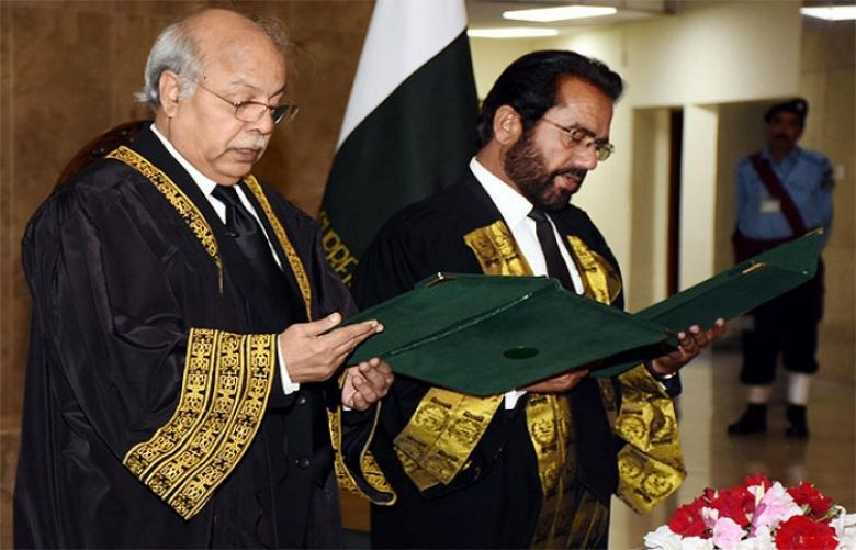 Justice Noor Meskanzai takes oath as Chief Justice Federal Shariat Court