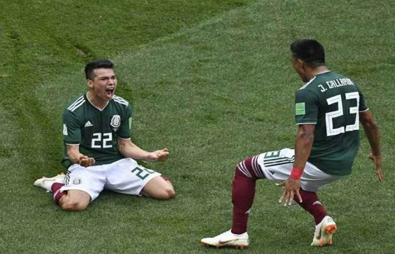 Mexico wins, 1-0, as Germany falls in group stage