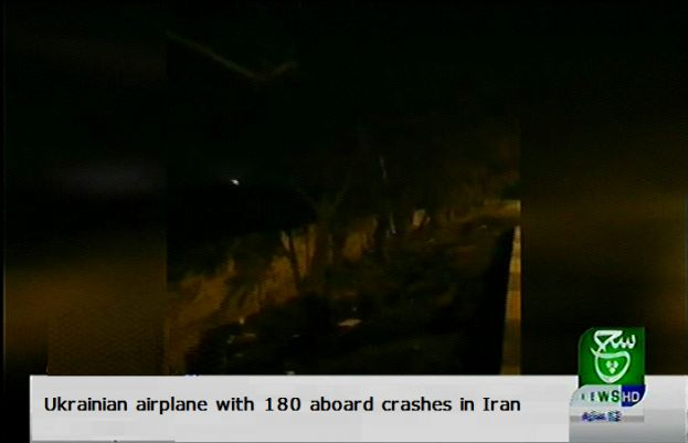 Ukrainian airplane with 180 aboard crashes in Iran