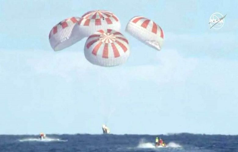 Elon Musk's SpaceX capsule splashes down off Florida coast