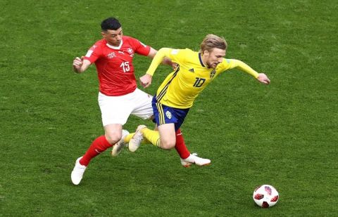 Sweden beat Switzerland 1-0 in FIFA WC
