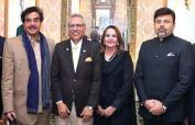 Indian politician and former Actor Shatrughan Sinha meets President Alvi
