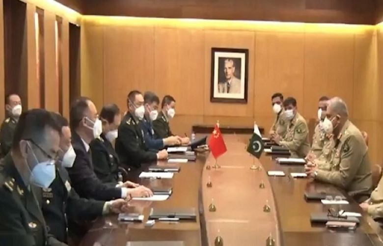 Pakistan's Army Chief General Qamar Javed Bajwa on Monday had a meeting with China's Minister of National Defence General Wei Fenghe
