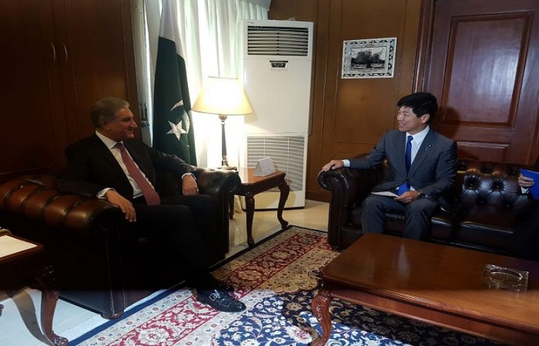 Japan's State Minister for Foreign Affairs calls on FM Qureshi