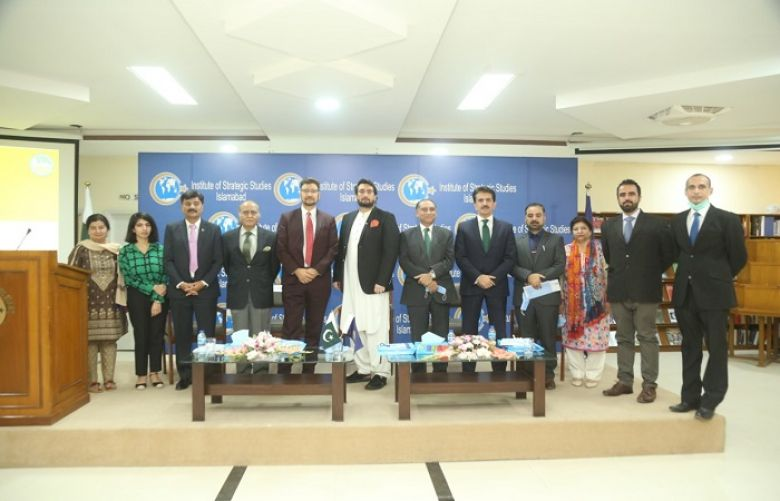 """Chairman Parliamentary Committee on Kashmir"" Shehyar Afridi and other participents in Institute of Strategic Studies, Islamabad"