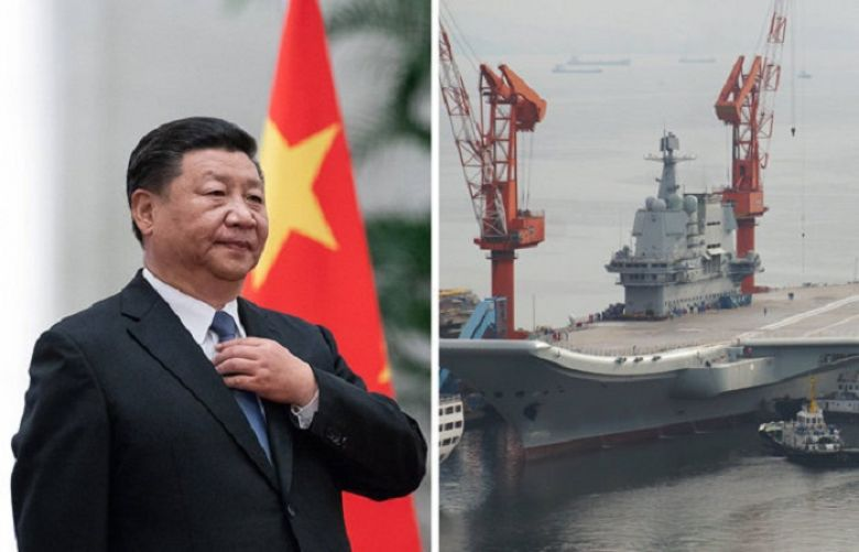 China in fresh WAR GAMES as 1,300km of sea SEALED OFF for aircraft carrier military drills