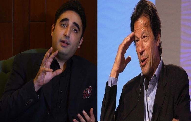 Chairman of Pakistan Peoples Party Bilawal Bhutto Zardari and Prime Minister Imran Khan