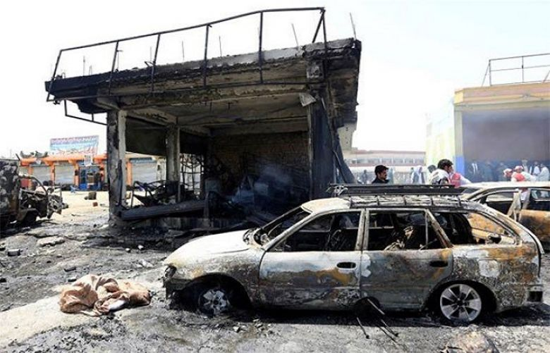 10 killed in suicide attack on Afghan security forces