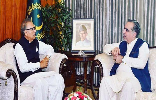 President Arif Alvi meets Governor Sindh Imran Ismail in Karachi