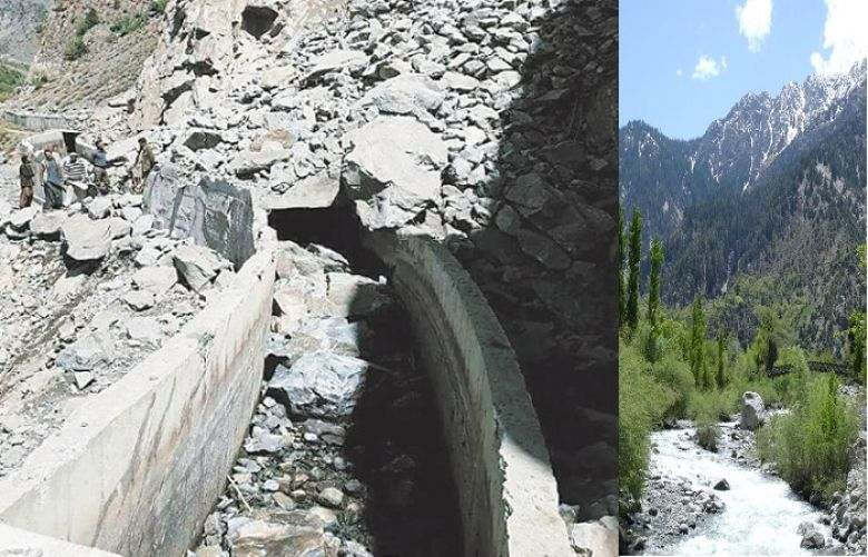 Landslide again damages Naltar power station's channel