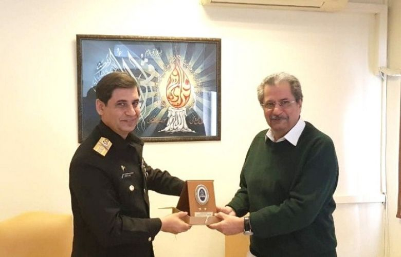 Deputy Chief of Naval Staff Rear Admiral Zahid Ilyas called on Education Minister Shafqat Mahmood