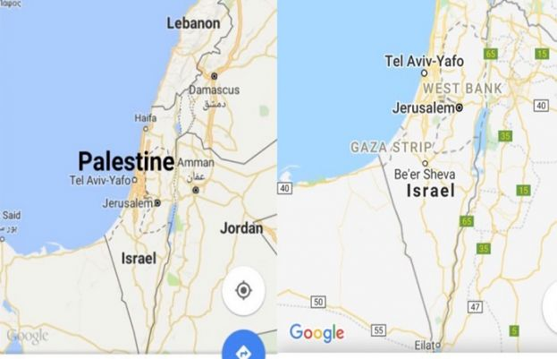 Social media activists slam Google, Apple for removing Palestine from world map