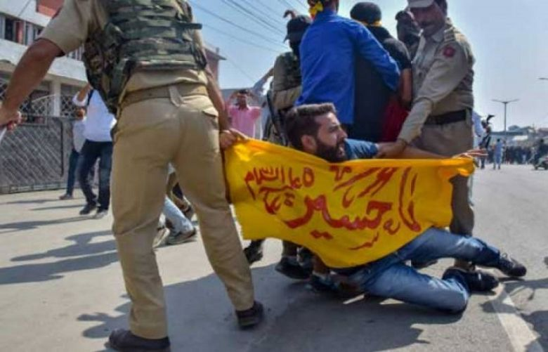 Indian authorities had tightened restrictions in Srinagar, Badgam, Baramulla and other areas to stop people from taking out Muharram processions.