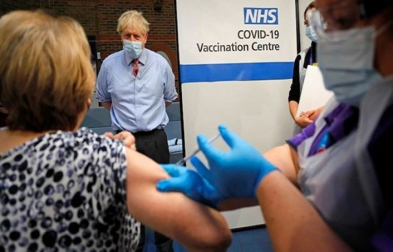 UK vaccinating 200,000 a day against coronavirus