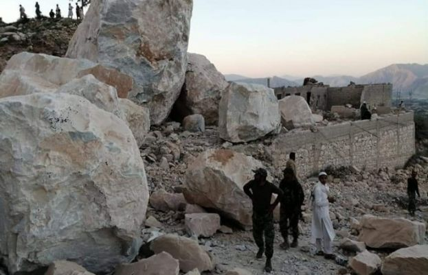 Incident of a rockslide in Khyber Pakhtunkhwa's Mohmand district