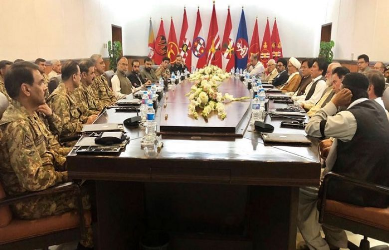 The leaders and representatives of the Hazara community meets Chief of Army Staff General Qamar Javed Bajwa in Quetta