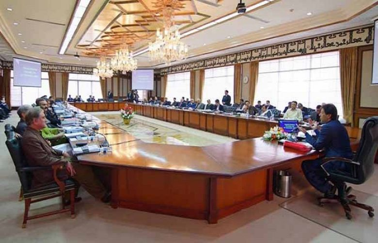 Prime Minister Imran Khan is chairing a meeting of the federal cabinet in Islamabad