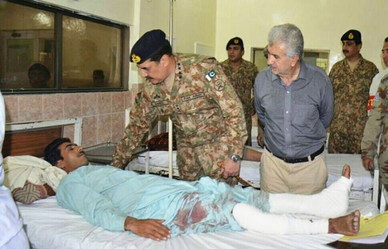 Gen Raheel visits the Civil Hospital Quetta