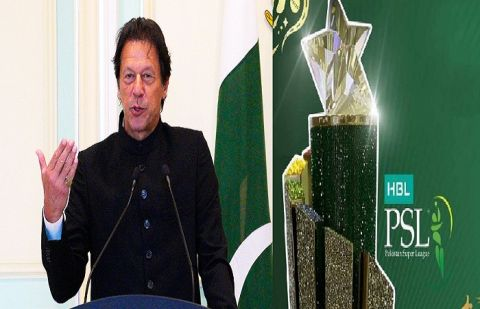 Prime Minister Imran Khan says that InshaAllah, the next PSL will be held entirely in Pakistan