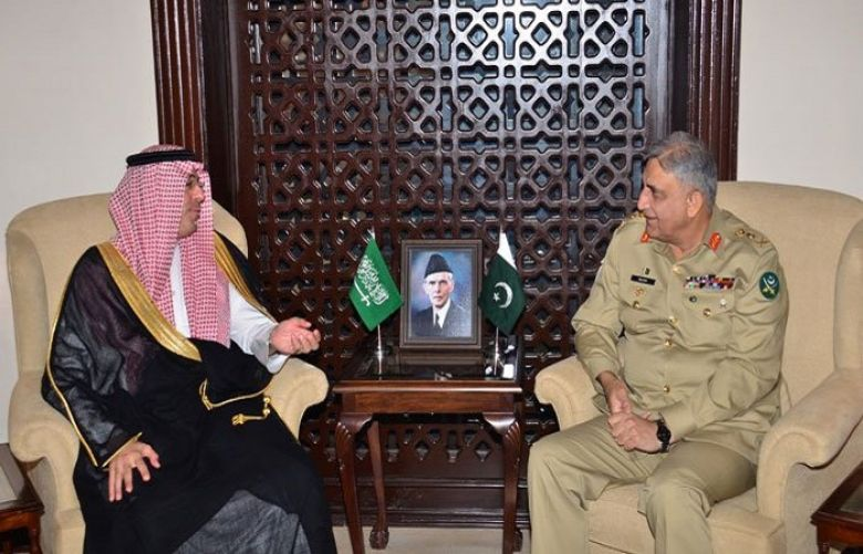 Saudi Information Minister Meets Army Chief Gen Bajwa