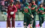 Bangladesh today celebrating victory against WI in World Cup 2019