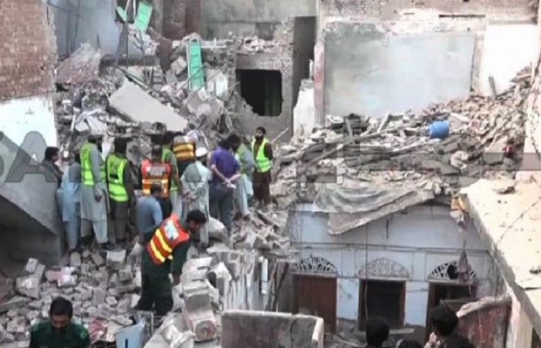 Six people including two women were killed when a multi-storey building collapsed in Lahore