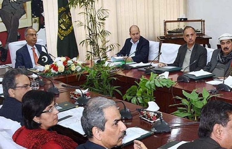 Adviser to the Prime Minister on Finance Dr Abdul Hafeez Sheikh chairing meeting of ECC