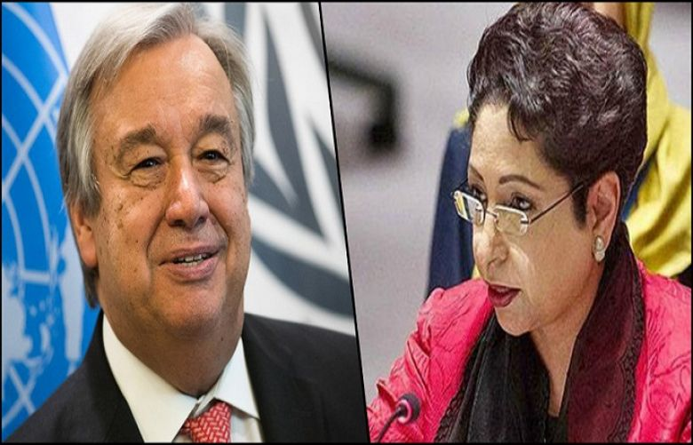 Permanent Representative of Pakistan to the United Nations (UN) Maleeha Lodhi and UN Chief.