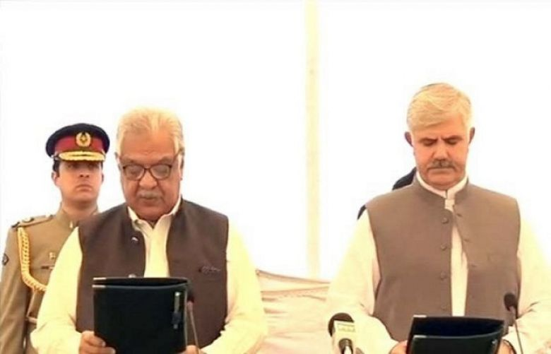 Mehmood Khan sworn in as KP chief minister