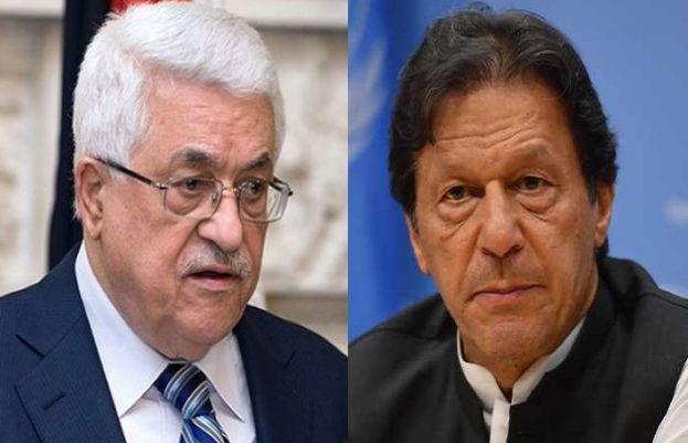 PM Imran Khan and Palestinian President Mahmoud Abbas