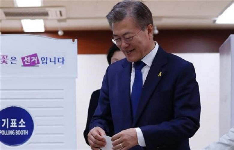 Moon Jae-in of the liberal Democratic Party