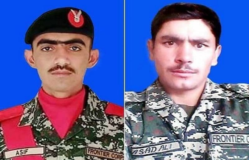 Two soldiers martyred as military intercepts terrorists at Pak-Afghan border