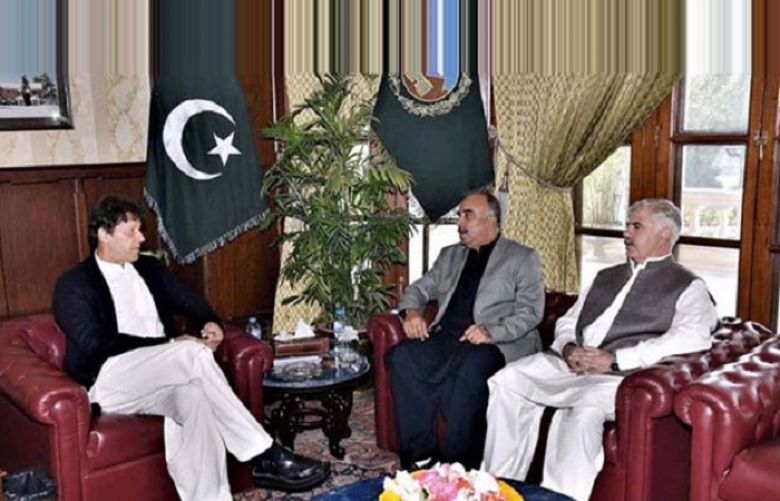 KP's Governor and CM  called on Prime Minister Imran