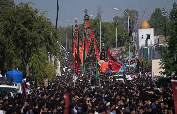 Muharam 9 processions being taken out aross Pakistan