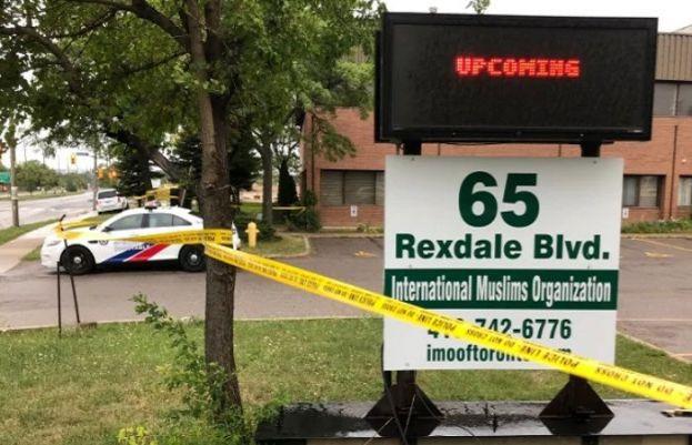 Elderly man stabbed to death near Toronto mosque