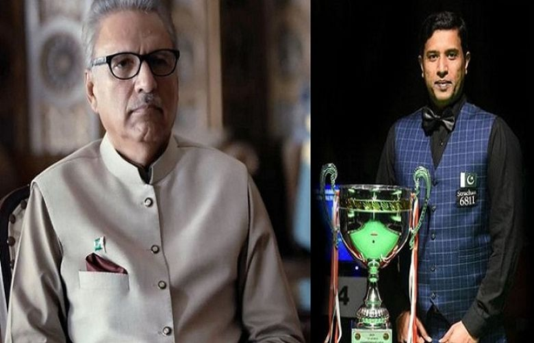 President Arif Alvi Congratulates Snooker Champion Muhammad Asif on Winning