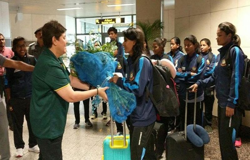 Image result for Bangladesh women cricket team arrives in Lahore