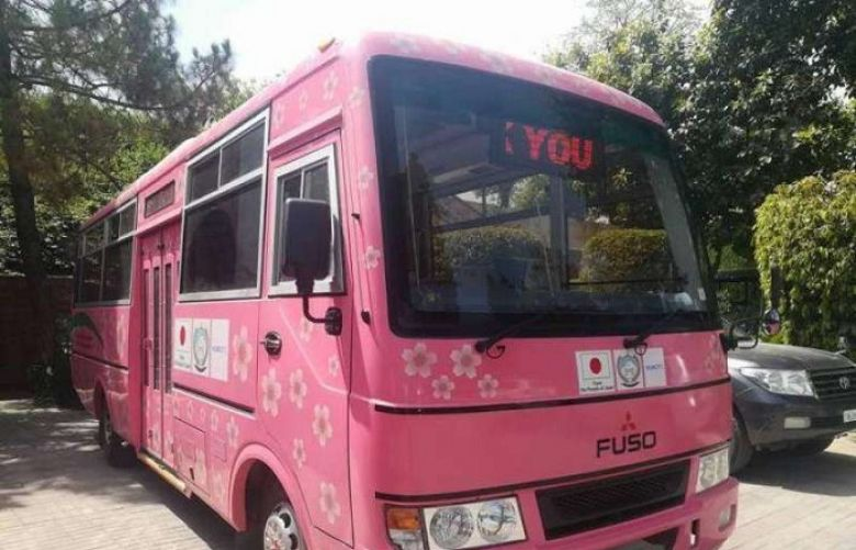 Government launched 'Pink Bus Service' for women in Mardan