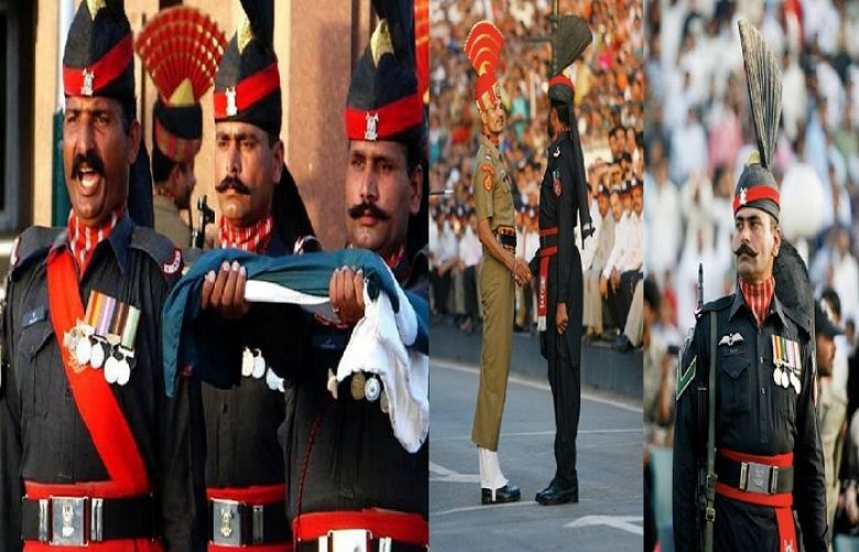 Flag-lowering ceremony held at Wagha Border