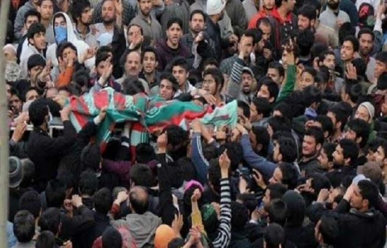 Indian forces martyr another youth rising toll to four in IOK